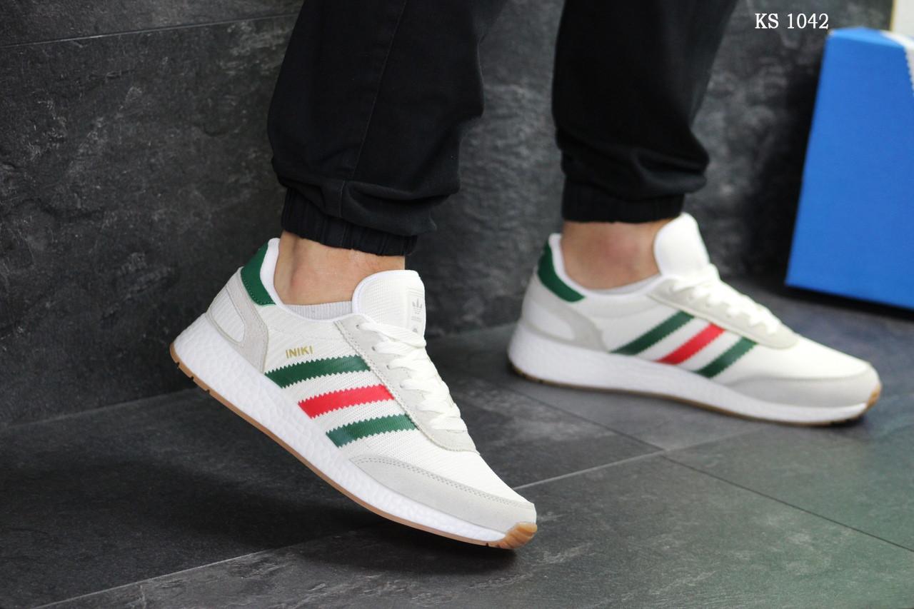 Мужские кроссовки Adidas Iniki (белые)