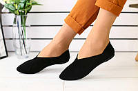 Женские туфли-алладинки на лето замшевые классические модные удобные в черном цвете , фото 1