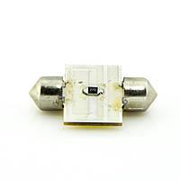 Лампа LED 12V АС (C5W) 12LED COB 31mm 160Lm БЕЛЫЙ, фото 1