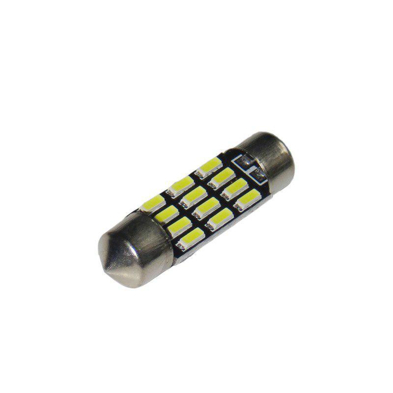 Лампа LED 12V AC (C5W) 12SMD 4014 36мм 260 Lm БЕЛЫЙ