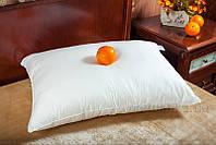 Детская гладкая подушка Билана Лебяжий пух в чехле без молнии 40х60 см