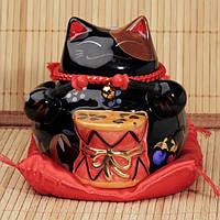 Манэки-Нэко «Удача и богатство», черный #5, фото 1