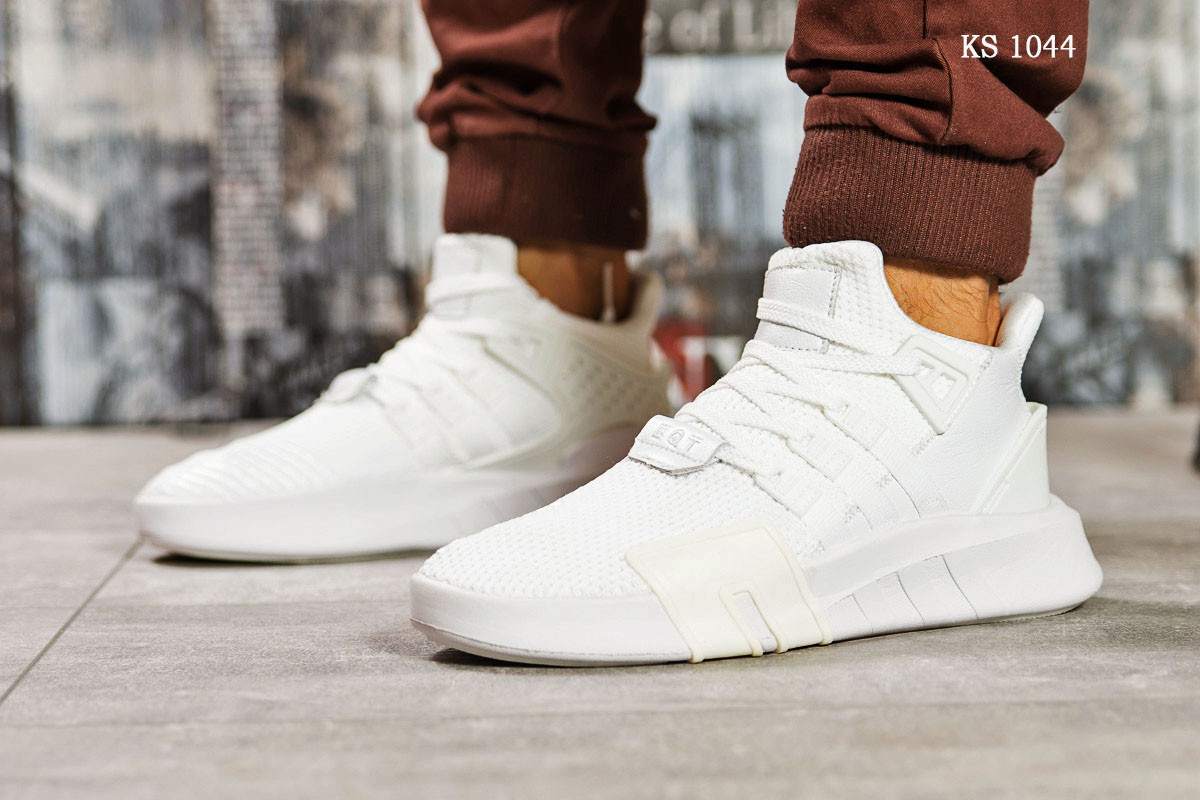 Мужские кроссовки Adidas EQT ADV / 91-18 (белые)