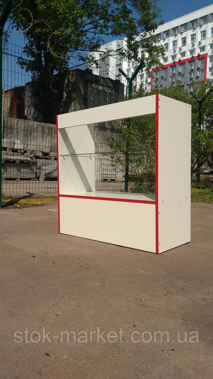 Тумбочка-витрина, стекло ДСП