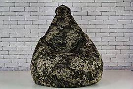 Бескаркасное камуфляжный Кресло мешок груша пуфик XL