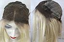 Парик из натуральных волос каре с отросшими корнями, фото 2