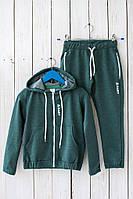 Детский спортивный костюм зеленый.Размер 122-146.