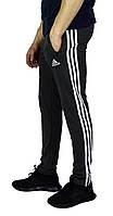 Серые мужские спортивные трикотажные штаны ADIDAS зауженные , фото 1
