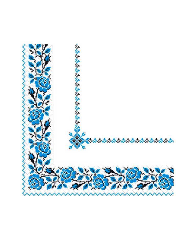 Салфетки бумажные вышиванка цветы, 33х33 см, Марго