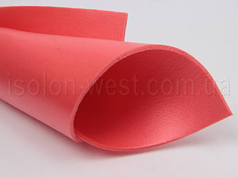 Цветной изолон, красный, для декора и рукоделия,3мм