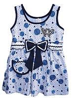 """Детский сарафан """"Бантик"""" для девочки от годика до 5 лет белый с бабочкой"""