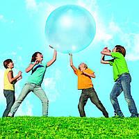 Мяч-жвачка «Wubble Bubble Ball» синий 90 см с насосом