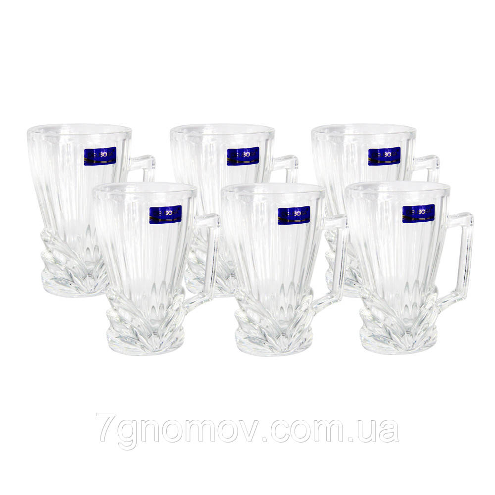 Набор чайный стеклянный 6 чашек Делиция Рафид 230 мл