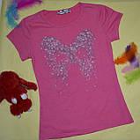 Футболка для девочек летняя принт бабочка р 6 лет, Miss Wifi CSQ-99127, фото 6