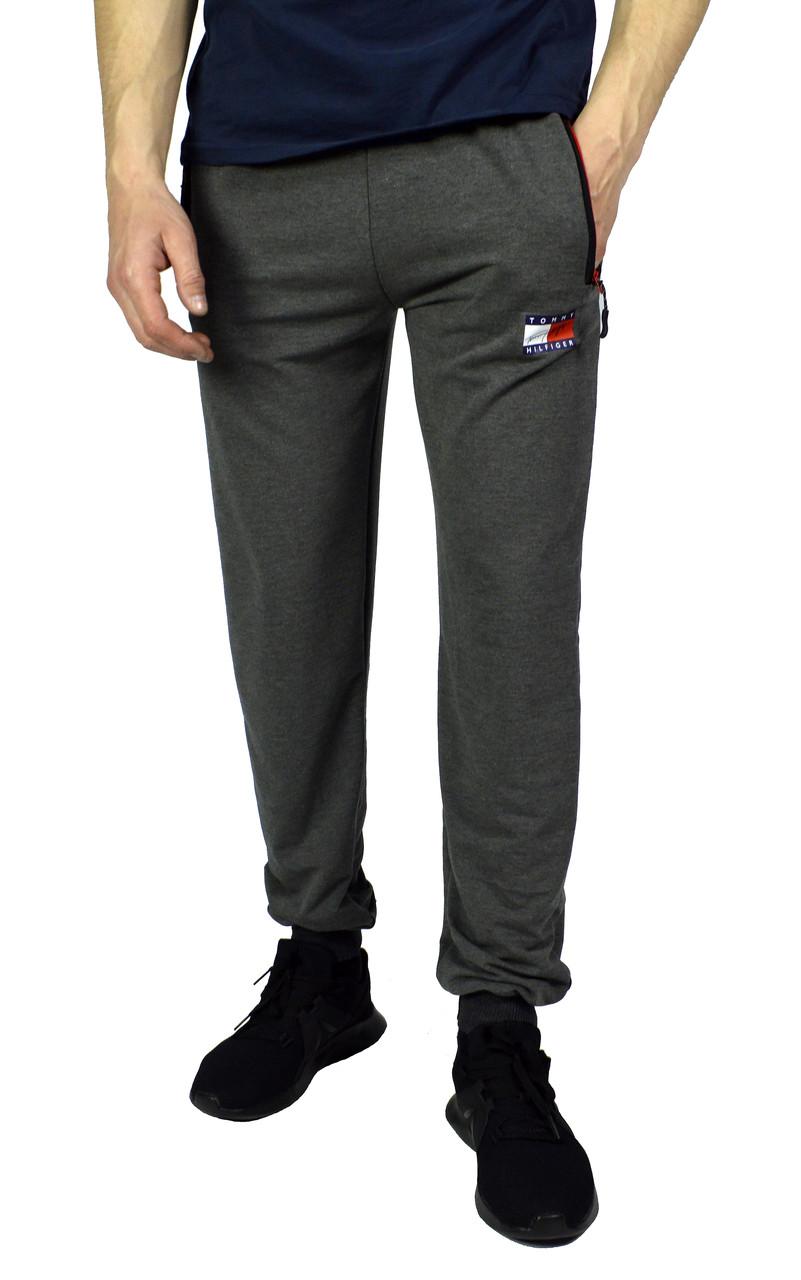 Серые мужские спортивные трикотажные штаны TOMMY