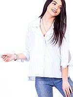 🌺 Блуза рубашка женская в полоску, фото 1