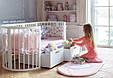 Круглая кроватка трансформер Baby-Sleep 12в1, Maxi + ящики, фото 2