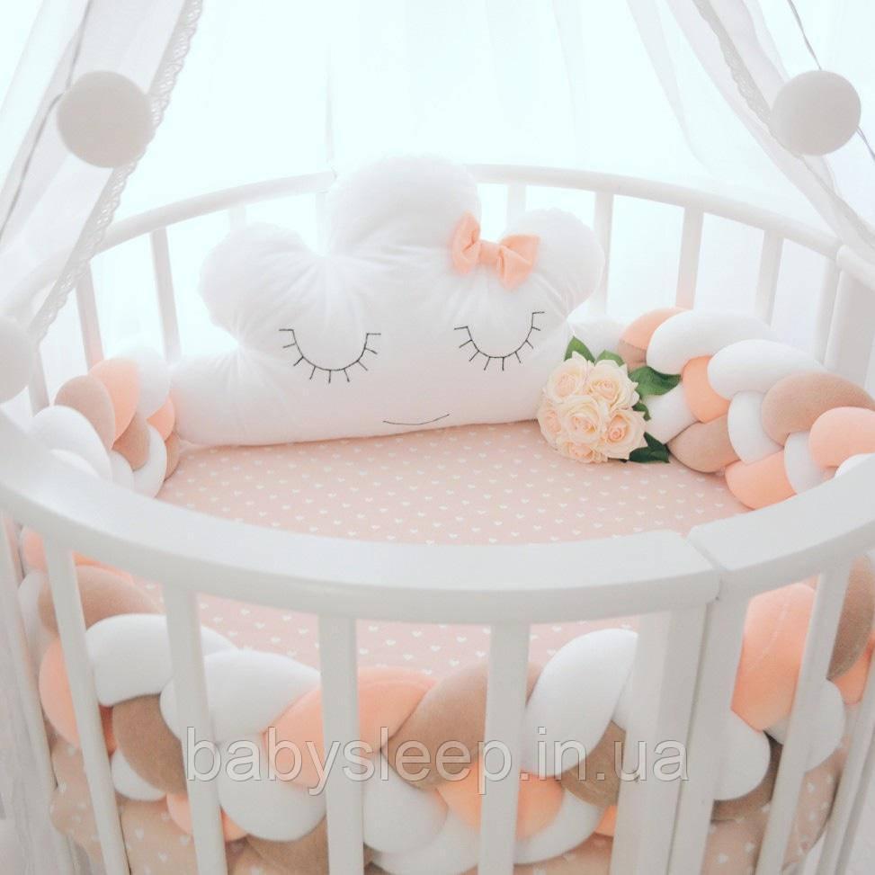 Круглая кроватка 12в1 Бук, Maxi + укачивание