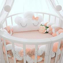 Овальная кроватка 12в1 Бук, Maxi + укачивание
