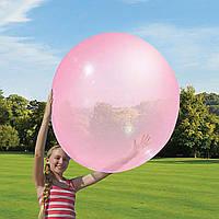 Мяч-жвачка «Wubble Bubble Ball» розовый 90 см с насосом