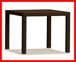 Стол искусственный ротанг Keter Melody Quartet коричневый