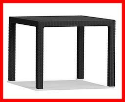 Стол искусственный ротанг Keter Melody Quartet серый