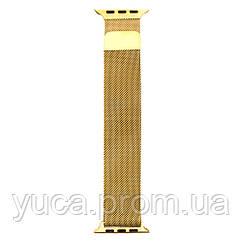 Ремешок  Apple Watch Milanese loop 38 / 40mm (Золотой)