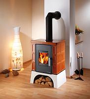 Каминофен - кафельная  печь камин на дровах c теплообменником Haas+Sohn Eboli Карамель., фото 1
