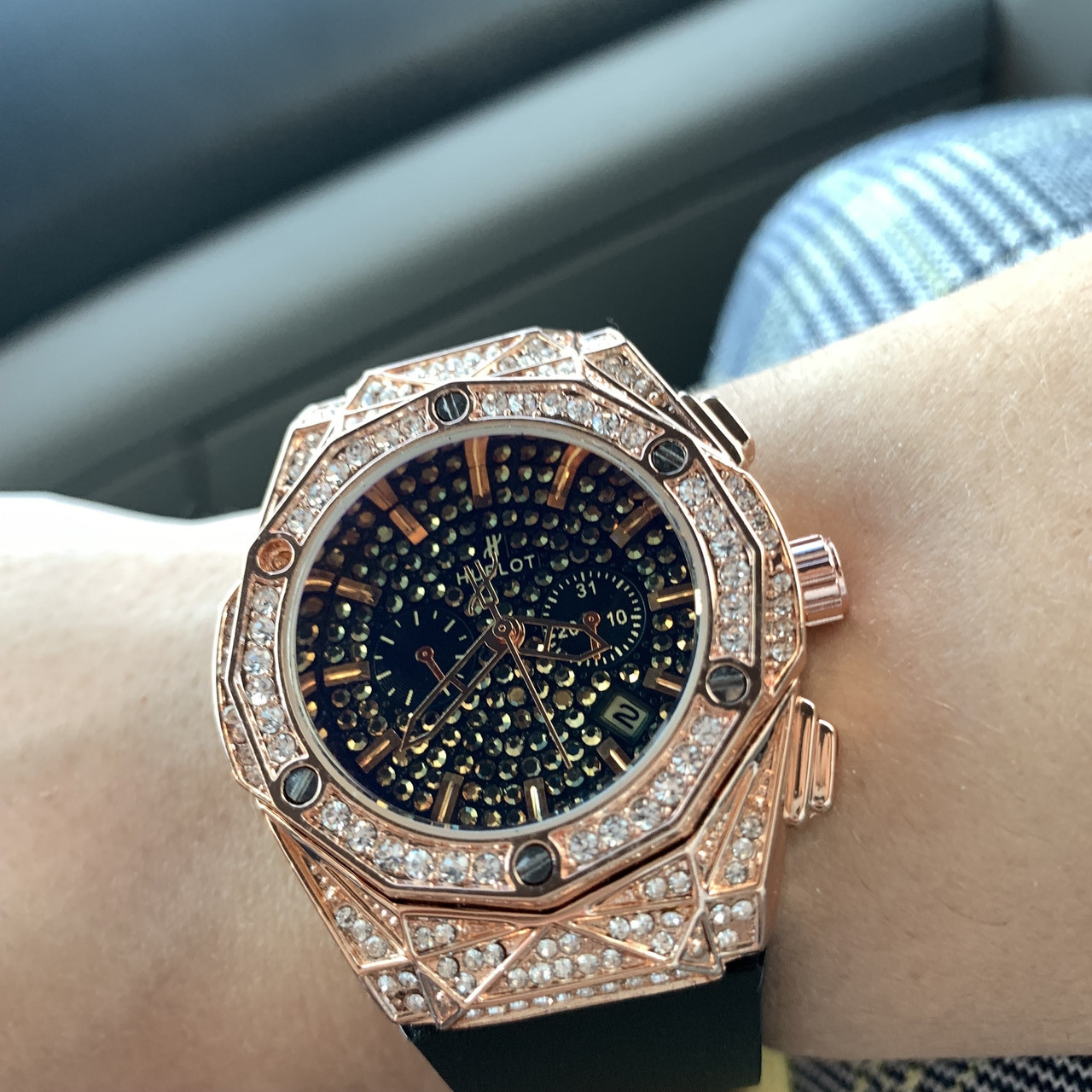 Супер модные женские наручные часы Hublot(реплика)