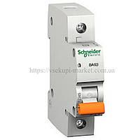 Автоматический выключатель SCHNEIDER ВА63 1Р 10А 1 ПОЛЮС С 11202