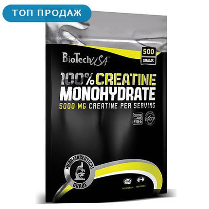 Креатин BioTech 100% Creatine Monohydrate 500 г, фото 2