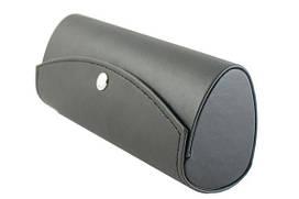 Футляр из кладкой прессованной кожи, для очков крупного размера (155*60*45) черный