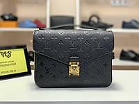 Женская сумка Louis Vuitton Pochette Metis Monogram Empreinte (Луи Виттон Пошет Метис) черная арт. 03-03, фото 1