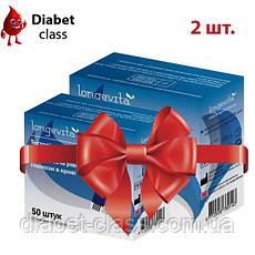Тест-полоски Longevita, 2 упаковки по 50 шт.