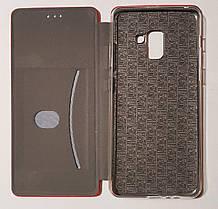 Чехол книжка LEVEL (Kira) Samsung A8 Plus 2018 (A730) red, фото 3