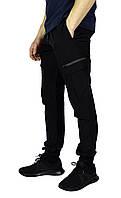 Черные мужские спортивные штаны с манжетами UNDER ARMOUR, фото 1