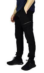 Черные мужские спортивные штаны с манжетами UNDER ARMOUR