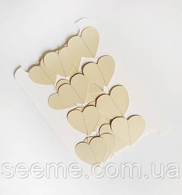 Гирлянда-сердечки, 2 м, цвет бежевый