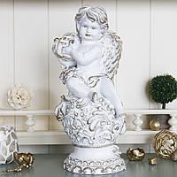Ангел з арфою світиться 34 см СП505-2 золото., фото 1