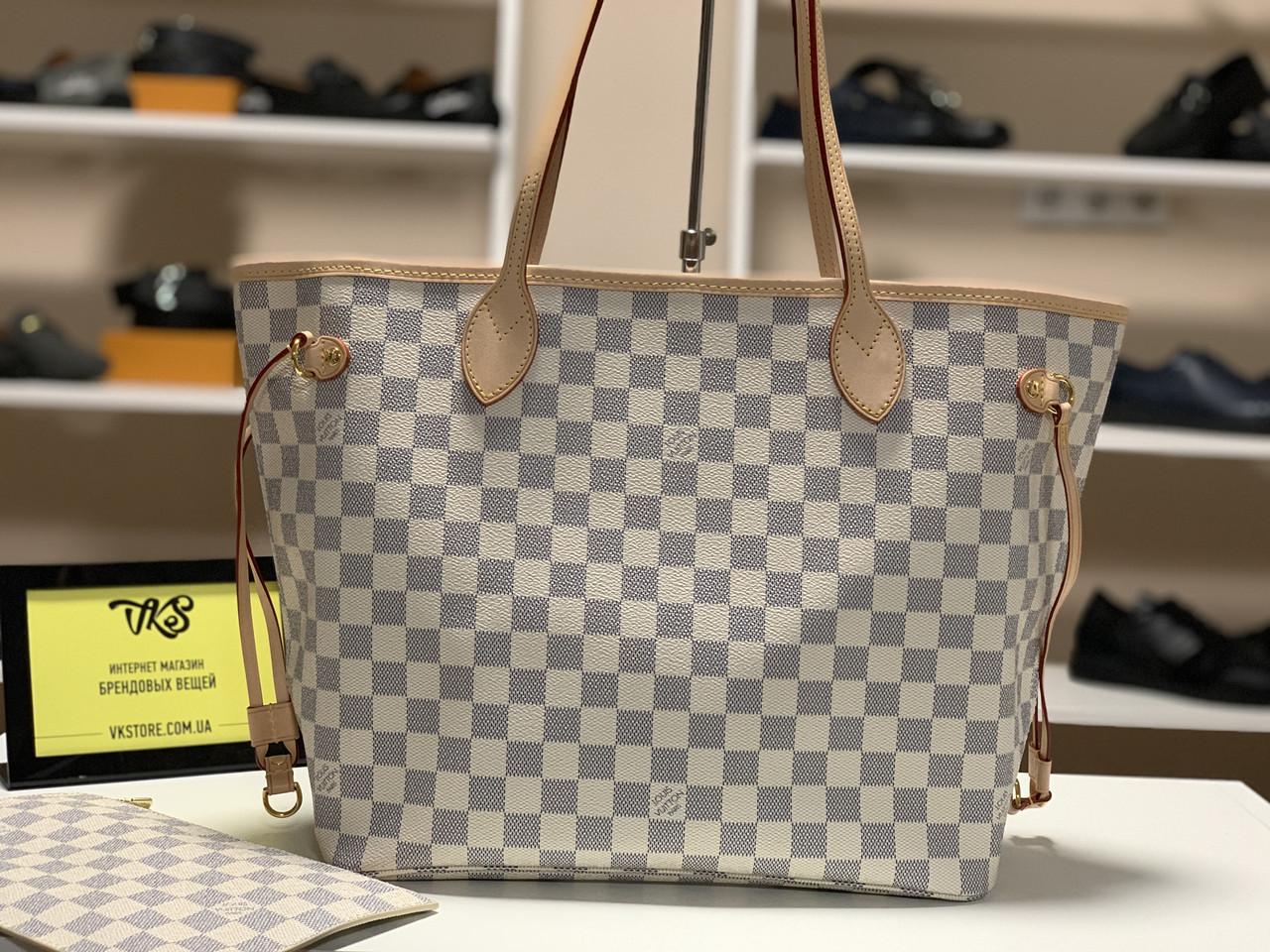 7e2a09fffc24 Женская сумка Louis Vuitton Neverfull Damier Azur Canvas - VKstore в Киеве