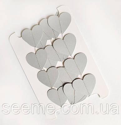 Гірлянда-сердечка, 2 м, колір сірий