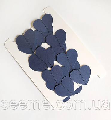 Гирлянда-сердечки, 2 м, цвет королевский синий