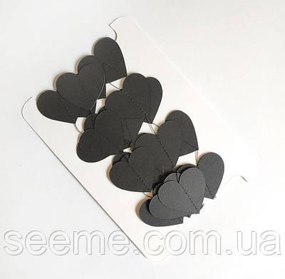 Гирлянда-сердечки, 2 м, цвет черный