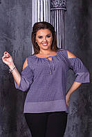 Блузка женская нарядная батал, фото 1