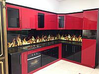 Кухня угловая «Красная» 3,0*2,0 м  Antonik