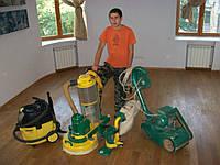 Паркетні роботи під ключ, шліфування та циклювання деревянної підлоги