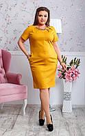 Платье женское нарядное лен для пышных дам , фото 1