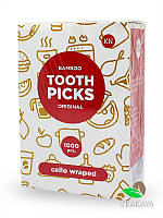Зубочистка в целлофане без ментола, 100 шт