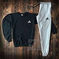 Спортивный костюм Adidas черно-серого цвета