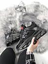 Кроссовки женские Versace черные и белые , фото 3